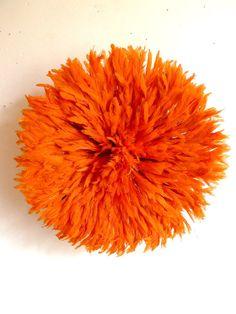 Juju Hat  Bamileke Feather Headdress  Orange  by SomAfrica on Etsy