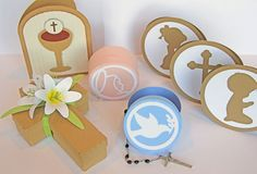 SVG Attic: Full of Grace SVG Collection $5.99 - Celebrate the sacraments with this wonderful set. This set is geared toward baptism and First Communion, but can be used for any occassion. You get the cross shaped gift box with 3D Easter Lily flowers! A keepsake box for gift giving, and storing your wonderful treasures that feature an outline of The Virgin Mary or a Dove.