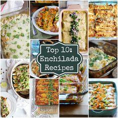 Top 10: Enchilada Recipes on Rainbow Delicious