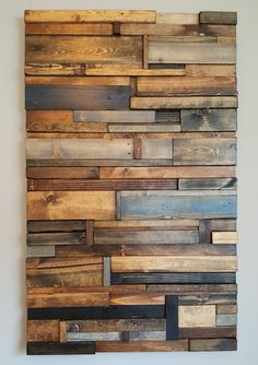 Escultura de pared de madera del arte   Etsy Rustic Wood Walls, Wooden Walls, Barn Wood, Pallet Walls, Pallet Wall Art, Pallet Furniture, 3d Design, Wall Design, House Design