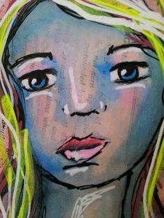 Uni Posca paint pens in art journal. www.youtube.com/feliciaborges