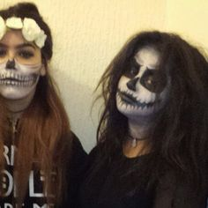 my Halloween makeup, my head band was cute ~normal~people~scare~me