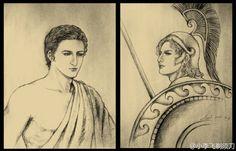 Hephaistion and Alexander by knightLi.deviantart.com on @DeviantArt