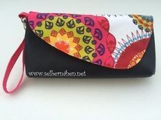 Clutch Betty – Kostenlose Schnittmuster und Foto-N. Sewing Patterns Free, Free Sewing, Sewing Tutorials, Hand Sewing, Sewing Crafts, Free Pattern, Diy Bags No Sew, Clutch Pattern, Diy Wallet