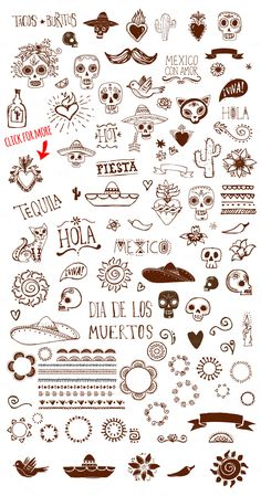 Mexican Hand Drawn Doodle: Get these for 96% off along with 90 other products in our November Big Bundle!