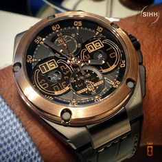 IWC Ingenieur Perpetual Calendar digital display.