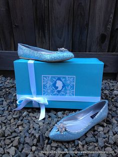 Limited Edition: Elsa Snowflake Glitter Snowflake Flats Couture Style Adult Costume Custom Made
