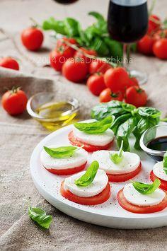 Italian traditional salad caprese | by Oxana Denezhkina