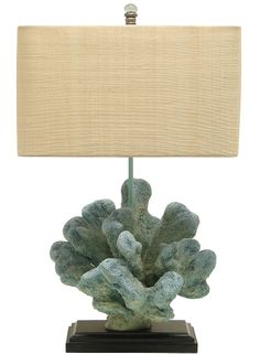 Blue Reef Lamp: Beach Decor, Coastal Home Decor, Nautical Decor, Tropical Island Decor & Beach Cottage Furnishings