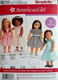 18 inch Doll Clothes Pattern American Girl Doll Clothes by blue510