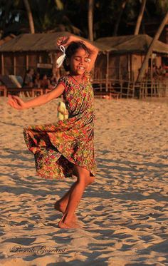 Village girl dancing.. | Pascale Goswami, photographer.