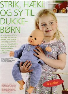 Albumarkiv Knitting Dolls Clothes, Knitted Dolls, Doll Clothes Patterns, Crochet Dolls, Doll Patterns, Knitting Patterns, Girl Dolls, Baby Dolls, Baby Born Clothes
