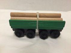 Henrys-Log-Car-Thomas-Wooden-Railway-With-Logs-Retired-Train