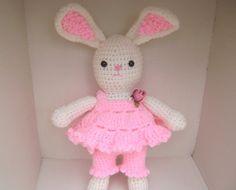 Crochet Easter Bunny  Toy  Decoration  Shelf by PrissysPlace