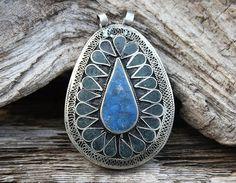 Beautiful handmade Afghan pendant by look4treasures on Etsy