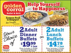 7 Golden Corral Printable Coupons Ideas Golden Corral Printable Coupons Golden Corral Coupons