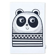 Don't you just love this Panda Tea Towel designed by British designer Jane Foster?! Jane describes her designs as bold, simple and happy. Brighten up your kitchen with her simple, stylish and fun products influenced by both Scandinavian and 50s design.