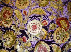 price reduction --only a few yards left Manuel Canovas Purple Paisley Velvet Upholstery Fabric - Designer Fabrics Velvet Upholstery Fabric, Mood Fabrics, Fabric Samples, Decorative Objects, Fabric Design, Paisley, Artsy, Price Reduction, Textiles