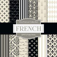 Paris Prints Digital Paper DP973 - Digital Paper Shop - 1