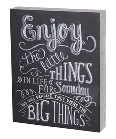 'Little Things' Wall Sign