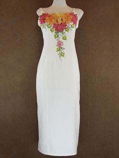 Jw Fashion, Cute Fashion, Fashion Dresses, Mexican Outfit, Mexican Dresses, Wedding Evening Gown, Evening Gowns, Embroidery Fashion, Embroidery Dress