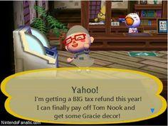 Happy Tax Day in Nintendo Animal Crossing City Folk