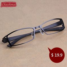 37743159426 Chashma Men Titanium Alloy Metal Eyeglasses Full Spectacle Frame Ultra  Light Myopia Glasses Frame Optical Glasses