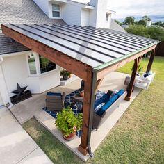 Small Backyard Patio, Outdoor Pergola, Backyard Pergola, Diy Patio, Patio Stone, Patio Privacy, Budget Patio, Flagstone Patio, Concrete Patio