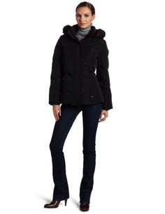 Calvin Klein Women's Faux Fur Trim Short Down Jacket for $200.00