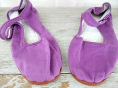 Purple Chinese Mary Janes Slipper Shoes by houuseofwren on Etsy,