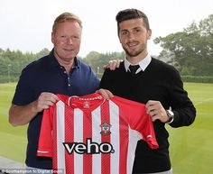 Making his mark: Ronald Koeman (left) is slowly bring in his own players to Southampton...