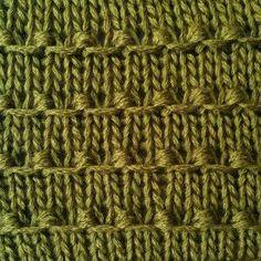 Tiny Bobbles Stitch Pattern Skill: intermediate Multiple of 2 sts + 2  Row 1 (RS): knit. Row 2: purl. Row 3: knit. Row 4: purl. Row 5: k1, *(k1, yo, k1) into the next st, sl 1 wyib; rep from * to the last st, k1. Row 6: p1, *sl 1 wyib,  k3tog tbl; rep from * to the last st, p1.  Repeat Rows 1-6.