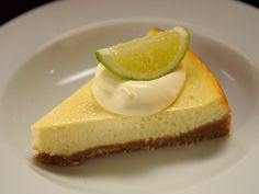 Ep1 - Dessert...Lime cheesecake topped with a dollop of fresh cream