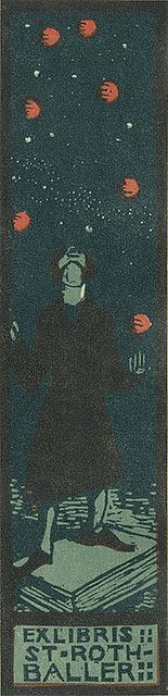 ST ROTHBALLER.  Pratt Libraries Ex Libris Collection Ex Libris, Pratt Library, Library Website, Library Posters, Old Books, Vintage Books, Wood Engraving, Libraries, Vintage Prints