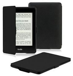 Fintie Kindle Paperwhite 轻薄皮套,皮质。使用各版本的Amazon Kindle