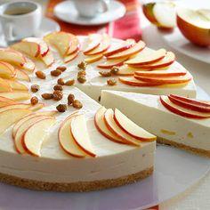 Nepečený jablečno-škořicový dort Cupcake Cookies, Vanilla Cake, Panna Cotta, Cheesecake, Philadelphia, Food And Drink, Pudding, Healthy Recipes, Apple