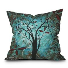 Find it at the Foundary - Madart Romantic Evening Throw Pillow - 18 x 18 in. - This print is also available on Duvet Covers and Throw Blankets