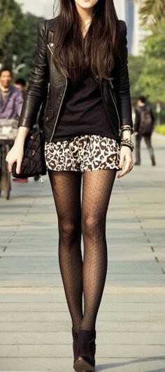 outfit inspiration #37 - leather and prints