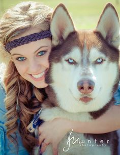 blue eyes! #husky and a girl