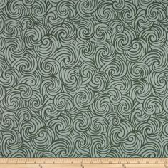 Robert Allen Promo Azuma Port Alice from @fabricdotcom  Screen printed on polyester this versatile medium weight fabric is perfect for window accents (draperies, valances, curtains and swags), accent pillows, duvet covers, upholstery and other home decor accents. Colors include green and natural.