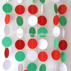 Vermelho verde branco círculo temático costurado festa de natal Garland decoração-imagem-Artigos para festas e eventos-ID do produto:60210530909-portuguese.alibaba.com