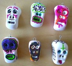 day of the dead simple craft. did this a couple of years ago & the kids loved it. maybe book club this year & dig out the leftover milagros to add for necklaces.
