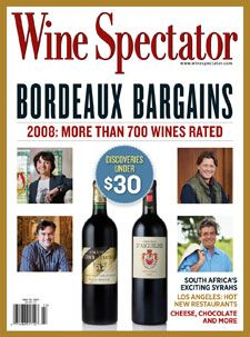 """May 31, 2011: Bordeaux Bargains.  In Bordeaux, a merely """"good"""" vintage can be a great thing for value seekers. Such is the case with the newly released 2008s. Get hundreds of scores and tasting notes and learn about the vintners behind the best of affordable Bordeaux."""