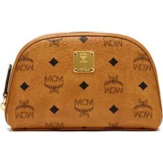 MCM Heritage Cosmetic Pouch ($330) ❤ liked on Polyvore featuring beauty products, beauty accessories, bags & cases and mcm