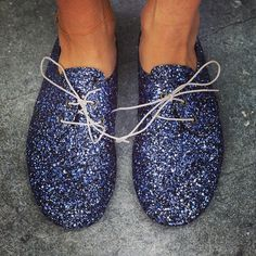 Anniel Soft Shoes Glitter Blue www.annielmoda.com