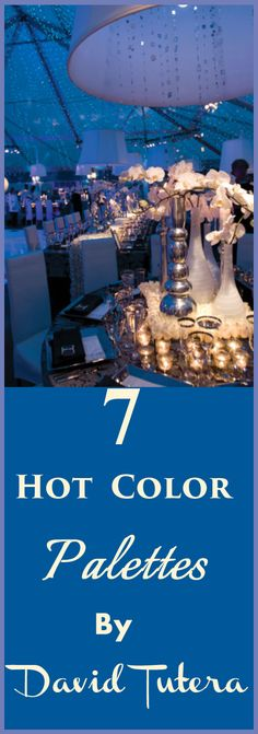 7 Hot Color Palettes By David Tutera Wedding Themes, Wedding Events, Our Wedding, Dream Wedding, Wedding Decorations, Wedding Vows, Wedding Reception, Wedding Color Schemes, Wedding Colors