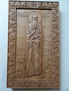 Икона резная-Святой Василий Великий