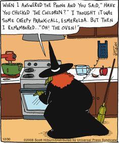 ~ Witchy Humor: The Oven Theme Halloween, Vintage Halloween, Fall Halloween, Happy Halloween, Halloween Treats, My Funny Valentine, Samhain, Halloween Cartoons, Halloween Humor