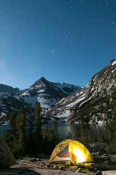 Camping in Baboon Lakes, California, United States.