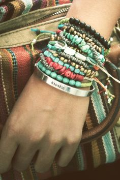 Arm party - turquoise red